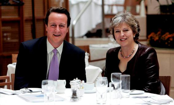 David Cameron and Theresa May pictured together in 2007. Photo: Andrew Parsons/PA Wire