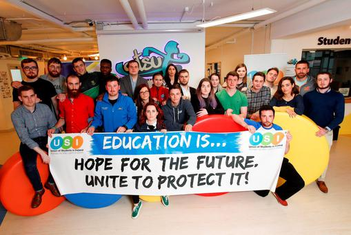 The Union of Students in Ireland slammed the loan scheme option in the Cassells Report, published this morning, calling it 'socially regressive', but welcomed the publicly-funded education option and urged the government to go down this route to improve higher education funding. Picture Conor McCabe Photography