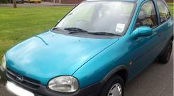 A 1995 Opel Corsa like the one the woman was asked to drive
