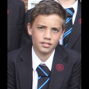 Oliver Croke (12) was killed in a freak accident on a football pitch. Photo: Tiverton High School