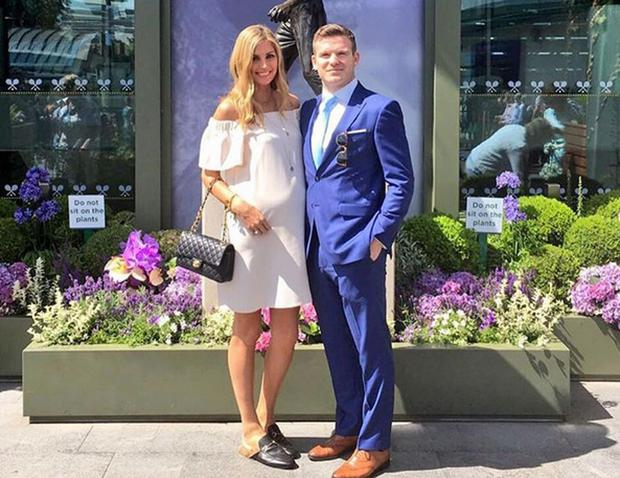 Aoife Cogan and Gordon D'Arcy at Wimbledon