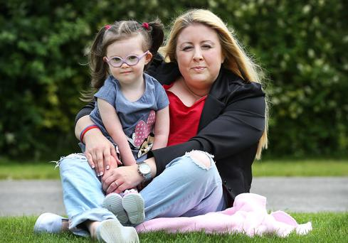Joann O'Callaghan and her daughter Ellie Talbot (2) from Clondalkin.