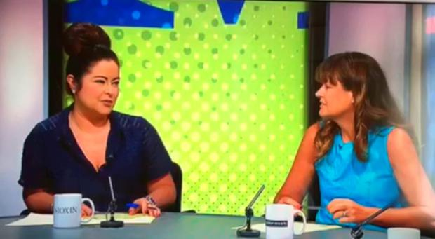 Sandra Murphy, left, on TV3's Midday