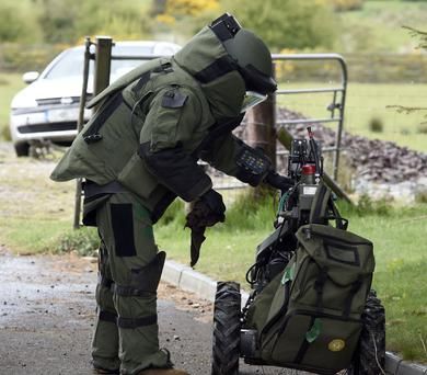 The Explosive Ordnance Disposal (OED) team in training