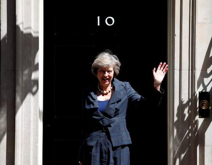Britain's Home Secretary Theresa May, who is due to take over as prime minister.
