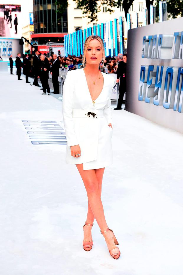Laura Whitmore attending the premiere of Star Trek Beyond held at the Empire in Leicester Square, London. PRESS ASSOCIATION Photo. Picture date: Tuesday July 12, 2016. See PA story SHOWBIZ StarTrek. Photo credit should read: Ian West/PA Wire