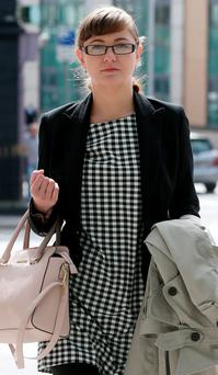 Marta Herda arriving at court on Tuesday. Photo: Collins