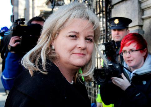 Angela Kerins on the way to a hearing of the Dáil's PAC. Photo: Tom Burke