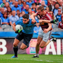 Dublin's Bernard Brogan tries to power his way past Westmeath's Kevin Maguire in last July's Leinster SFC final. Picture: Tomás Greally / SPORTSFILE