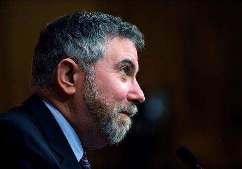 'Leprechaun economics: Ireland reports 26pc growth! But it doesn't make sense. Why are these in GDP?' Paul Krugman, the Nobel Prize-winning economist. Photo by Jeff Zelevansky/Getty Images