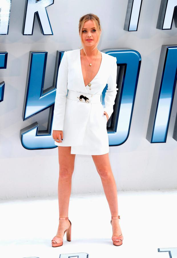 Laura Whitmore arrives for the UK premiere of