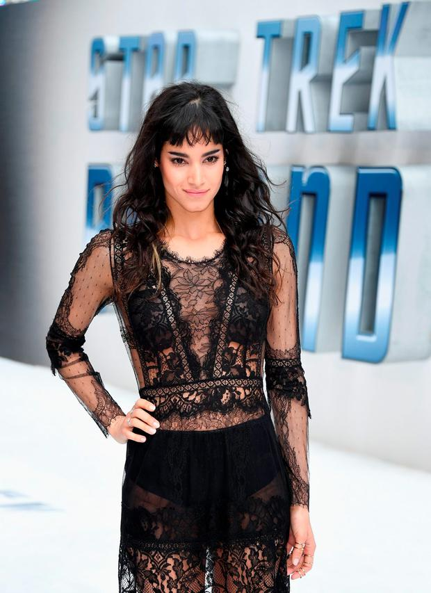 Sofia Boutella attends the UK Premiere of Paramount Pictures