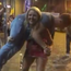 Amy O'Halloran lifts a man outside a Dublin pub. Photo: Facebook