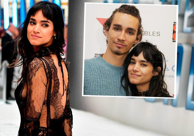 Sofia Boutella at the Star Trek world premiere and right, with boyfriend Robert Sheehan