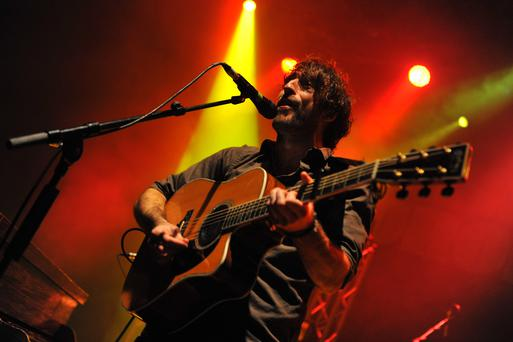Danny O'Reilly of The Coronas performs on stage at the O2 Shepherd's Bush Empire on November 13, 2015 in London, England. (Photo by C Brandon/Redferns)