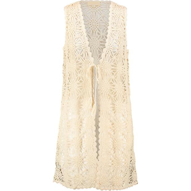 Cream Crochet Longline Vest,€34.99 at TK Maxx