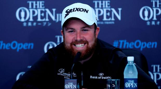 Ireland's Shane Lowry during a press conference at Royal Troon Golf Club today