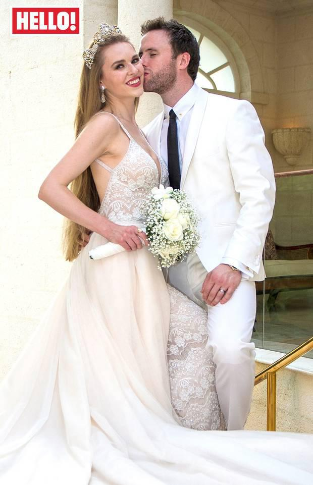 Former Blue Peter presenter and Miss Northern Ireland Zoe Salmon married in an intimate ceremony in Barbados in April. Photo: Hello magazine