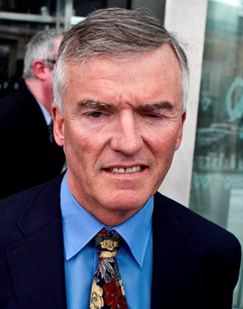 Ivor Callely: to be served with court proceedings by post Photo: Kyran O'Brien