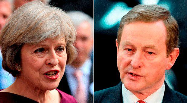 Theresa May and Enda Kenny spoke on the phone this evening