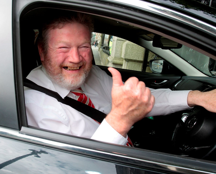 Fine Gael deputy leader Dr James Reilly arriving at Leinster House yesterday Photo: Tom Burke