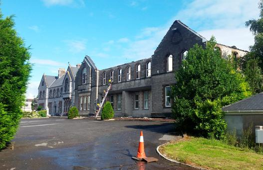 The Patrician Academy School extension in Mallow, Co Cork, where the blaze erupted Photo: Provision