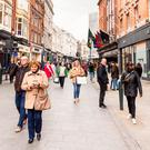 Shoppers on Grafton Street in Dublin. (Stock photo)
