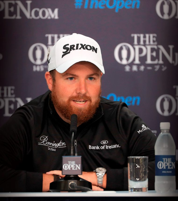 Shane Lowry at yesterday's press conference. Picture Credit: Mike Ehrmann/Getty Images