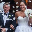 Bastian Schweinsteiger and Ana Ivanovic leave the church after their wedding on July 13, 2016 in Venice, Italy. (Photo by Awakening/Getty Images)