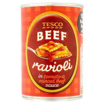 Recalled beef ravioli Photo: Tesco