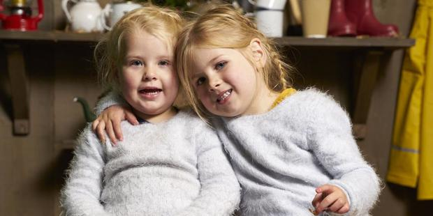 Two-year-old Mabel (left) and five-year-old Lola (right). Picture: Channel 4