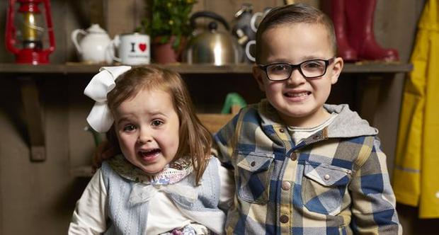 Three-year-old Maddison and five-year-old Taylor. Picture: Channel 4