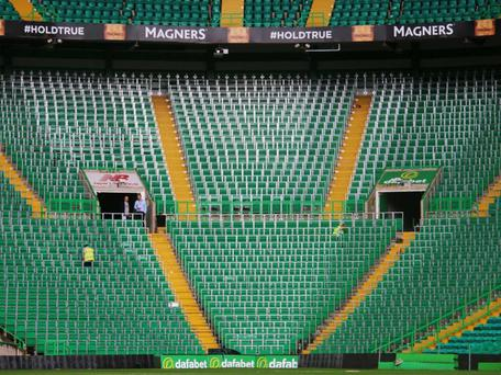 Celtic's new 2,600 capacity safe-standing area. Celtic FC