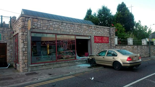 Scene at Forge Road café on Thursday morning - Picture courtesy of The Neil Prendeville Show on Cork's RedFM