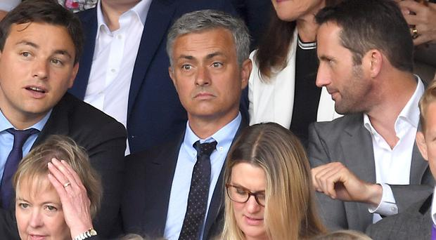LONDON, ENGLAND - JULY 10: Jose Mourinho attends the Men's Final of the Wimbledon Tennis Championships between Milos Raonic and Andy Murray at Wimbledon on July 10, 2016 in London, England. (Photo by Karwai Tang/WireImage)