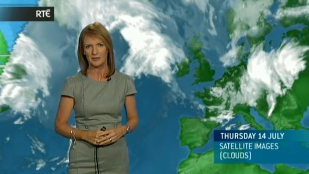 Meteorologist Joanna Donnelly on RTE News