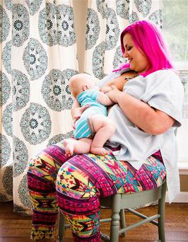Natasha had her photo taken to mark her last day of breastfeeding ahead of breast cancer treatment Photo Credit: Kari Dallas/Vintage Lens Photography