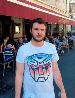 Handout photo of barman Robert Greene who was 10 feet from the carnage in Nice as he watched the truck driver plough through men, women and children. Photo: Robert Greene/PA Wire
