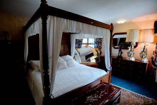 Four-poster bed, part of contents up for auction on Sunday 17th July. St. Lawrence House, Bailieborough, Co. Cavan.