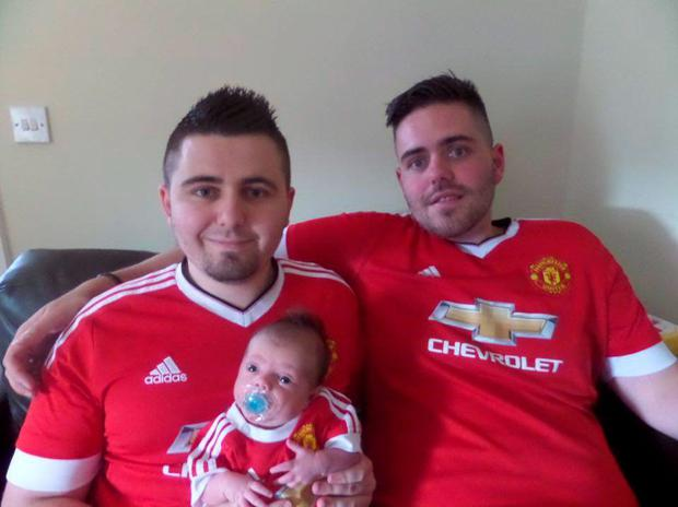 Steve with his son Luke and brother Will (right)