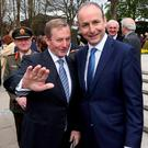 Enda Kenny and Micheál Martin: 'new politics' appears to have regenerated 'old holidays'. Photo: RollingNews.ie