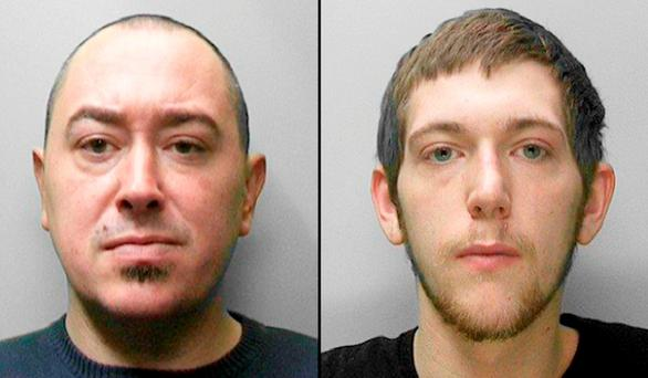 Marcus Hannon, 35, (left) and Dylan Quantrill, 20 Credit: Sussex Police/PA Wire