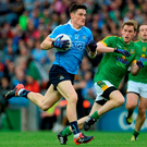 Diarmuid Connolly on the charge in the Leinster SFC semi-final against Meath. The bookmakers have Dublin as red hot favourites to win their sixth Leinster title in a row tomorrow. Photo by Oliver McVeigh/Sportsfile