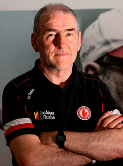 Tyrone manager Mickey Harte poses for a portrait. Photo: Oliver McVeigh/Sportsfile