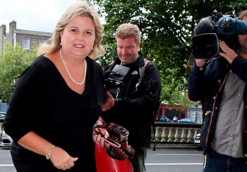Angela Kerins arriving at the Four Courts on Thursday for her High Court action. Photo: Collins Courts