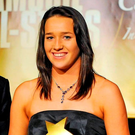 7 November 2009; Denise Gaul, Kilkenny, is presented with her Leinster Young Player of the Year award by Tony Towell, MD of O'Neills, and Joan O'Flynn, President of the Camogie Association, during the 2009 Camogie All-Stars Awards, in association with O'Neills. Citywest Hotel, Conference, Leisure & Golf Resort, Dublin. Picture credit: Pat Murphy / SPORTSFILE