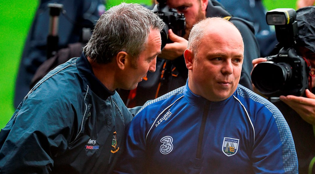 Waterford's Derek McGrath, shaking hands with Tipperary's Michael Ryan, will have had to listen to nonsense about how his tactics were found out. Photo: Ray McManus/Sportsfile