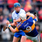 Waterford's Austin Gleeson brushes off Tipperary's Michael Breen during last Sunday's Munster final. For Waterford to thrive they need to fix a position for Austin Gleeson and allow him to settle there. Photo: Stephen McCarthy/Sportsfile
