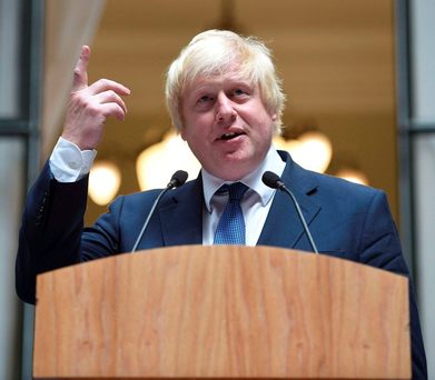 Britain's Foreign Secretary Boris Johnson. Photo: Reuters/Andrew Matthews/Pool
