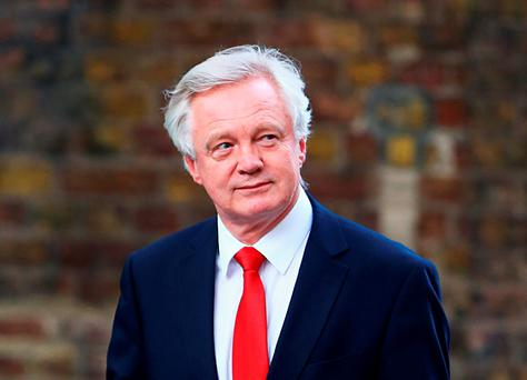 Brexit secretary David Davis. Photo: Gareth Fuller/PA Wire